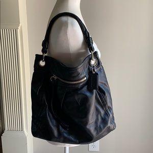 EUC Coach black leather handbag/shoulder bag
